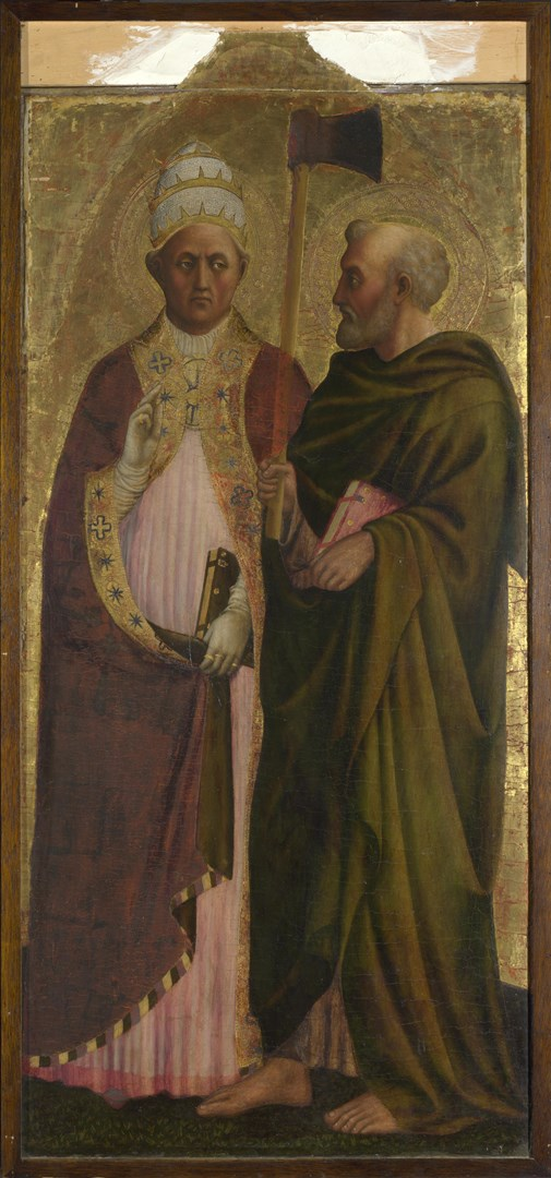 A Pope (Saint Gregory?) and Saint Matthias by Masolino