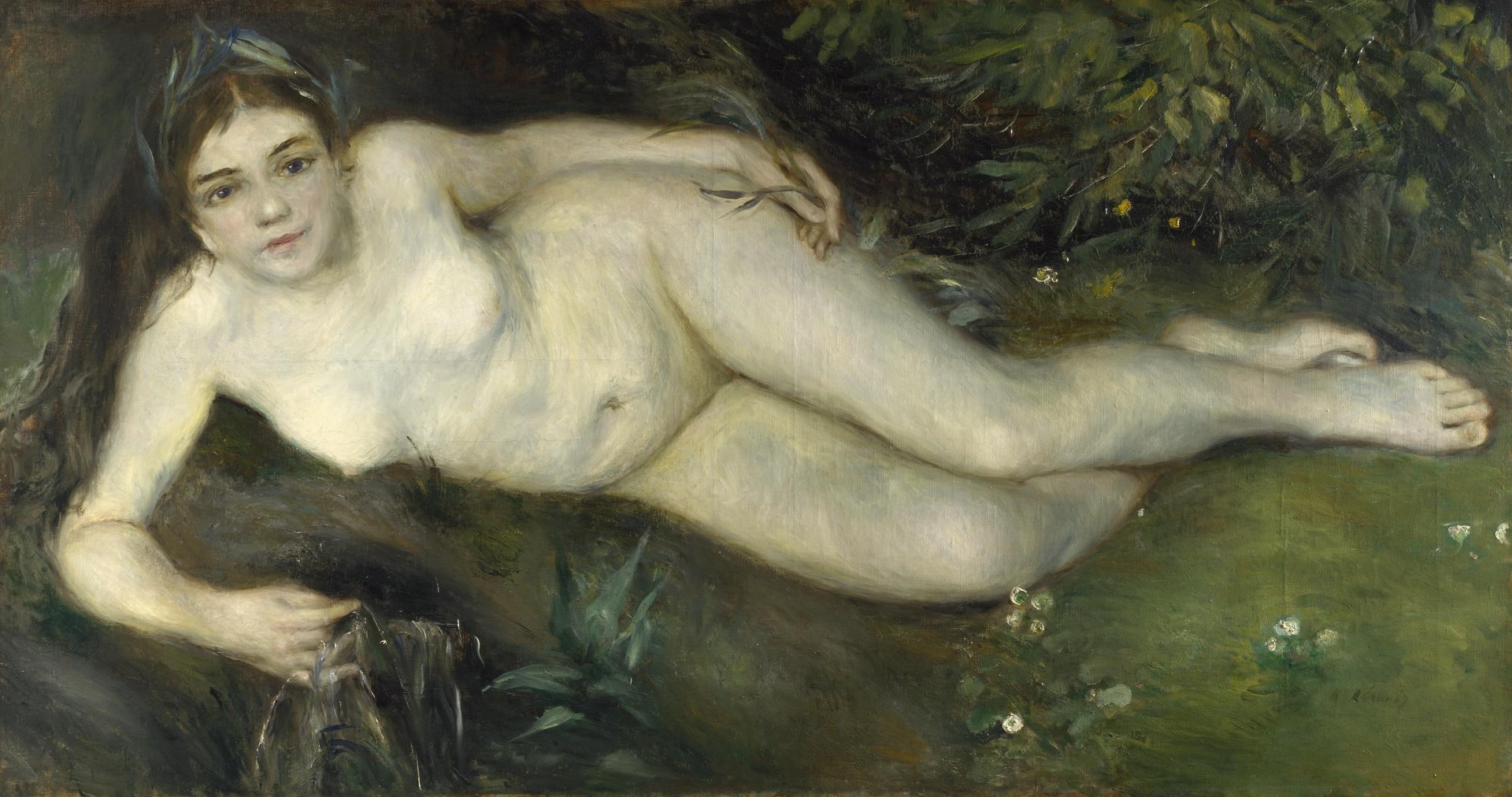 A Nymph by a Stream by Pierre-Auguste Renoir