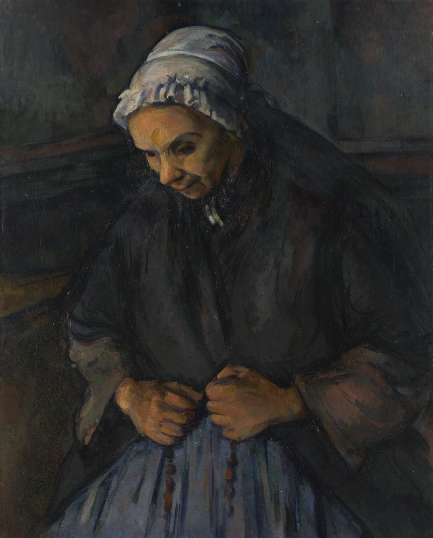 An Old Woman with a Rosary by Paul Cézanne