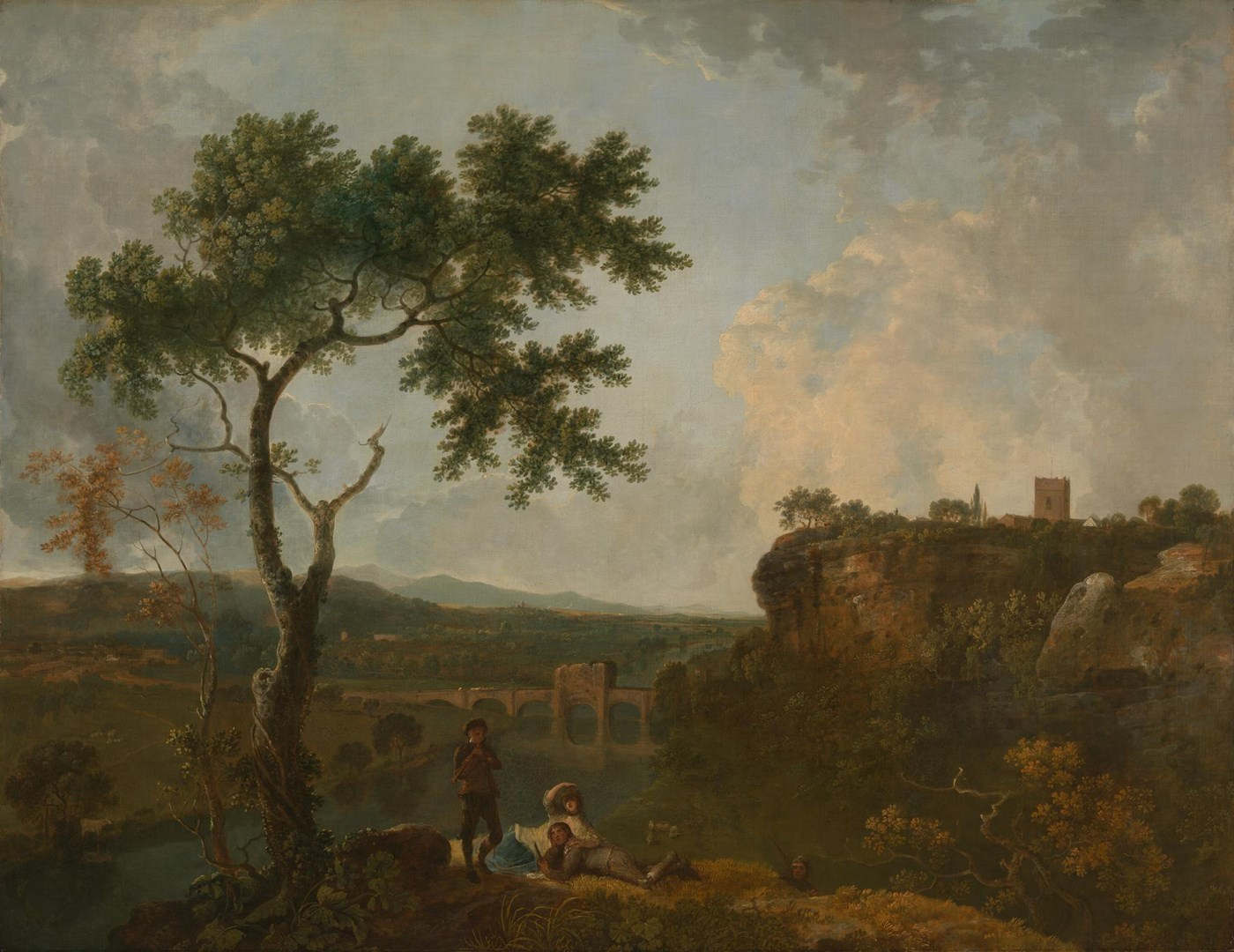 Holt Bridge on the River Dee by Richard Wilson