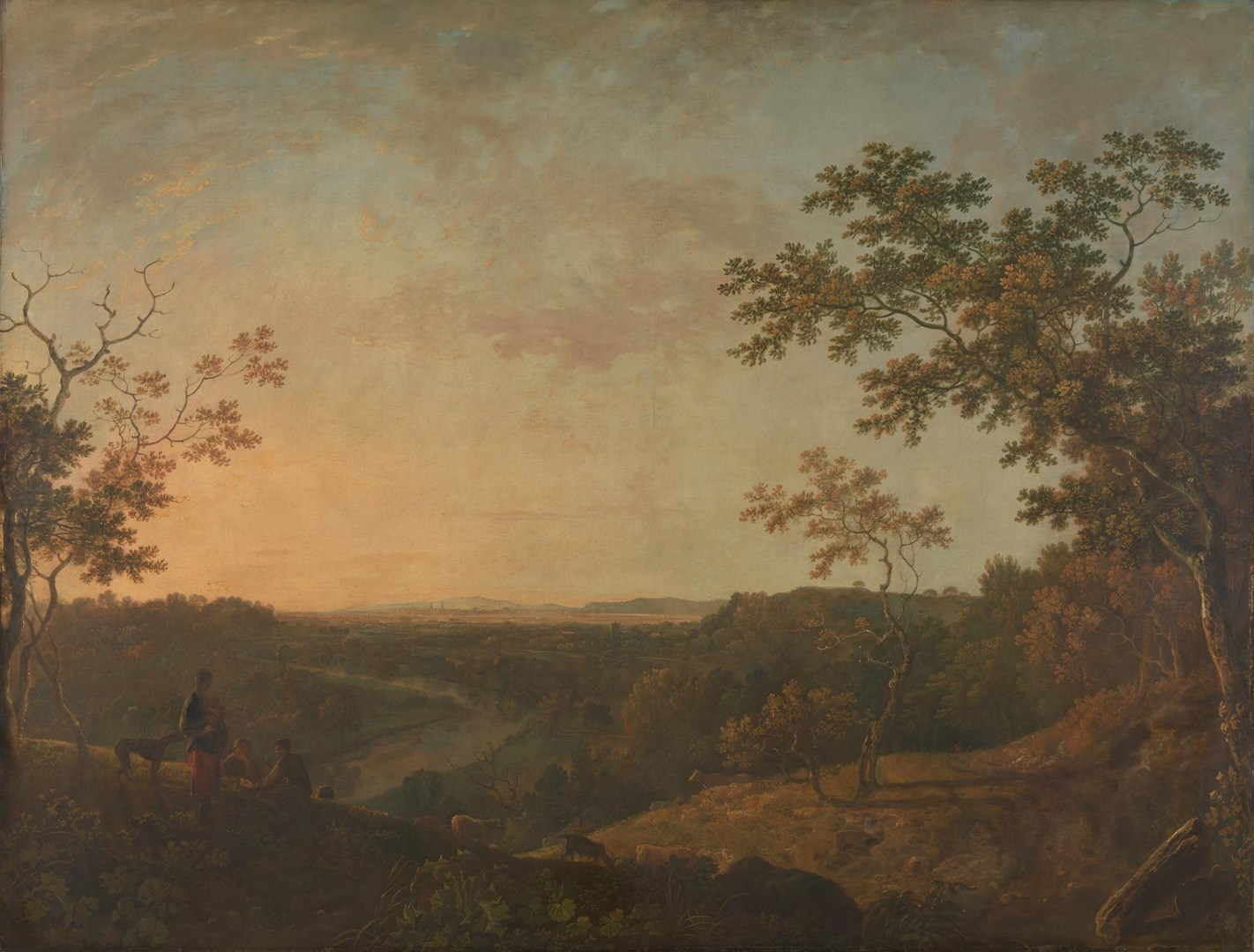 The Valley of the Dee, with Chester in the Distance by Richard Wilson