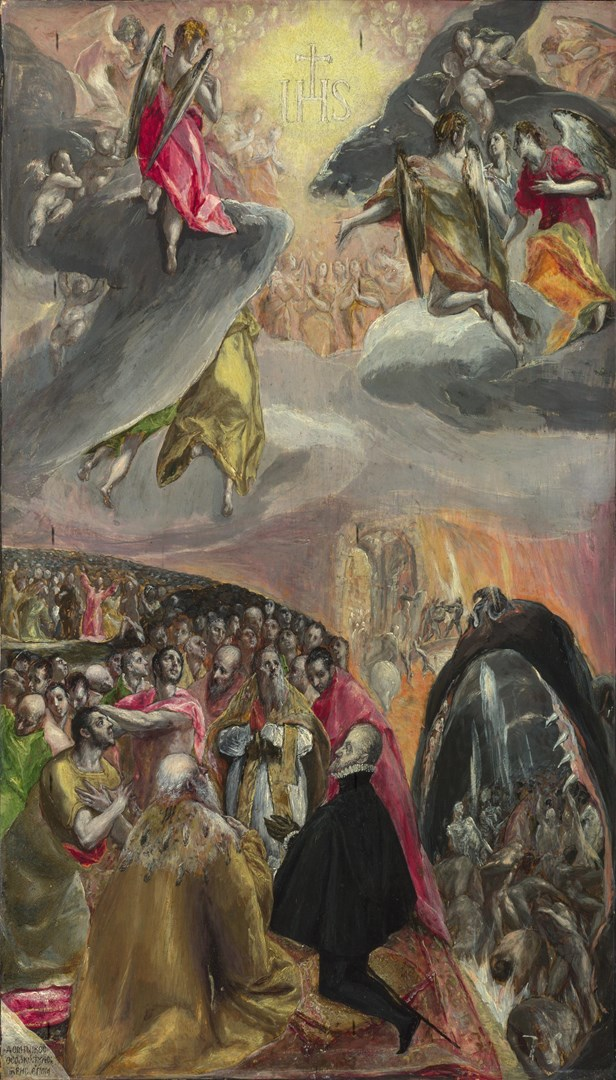 The Adoration of the Name of Jesus by El Greco