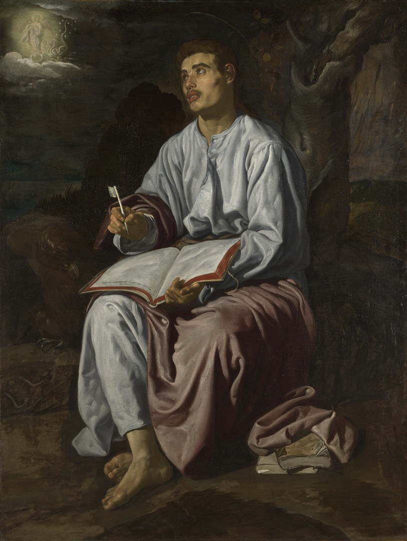 Saint John the Evangelist on the Island of Patmos by Diego Velázquez