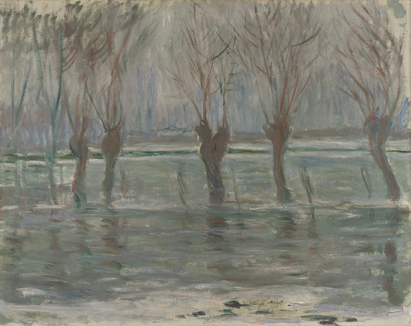 Flood Waters by Claude Monet