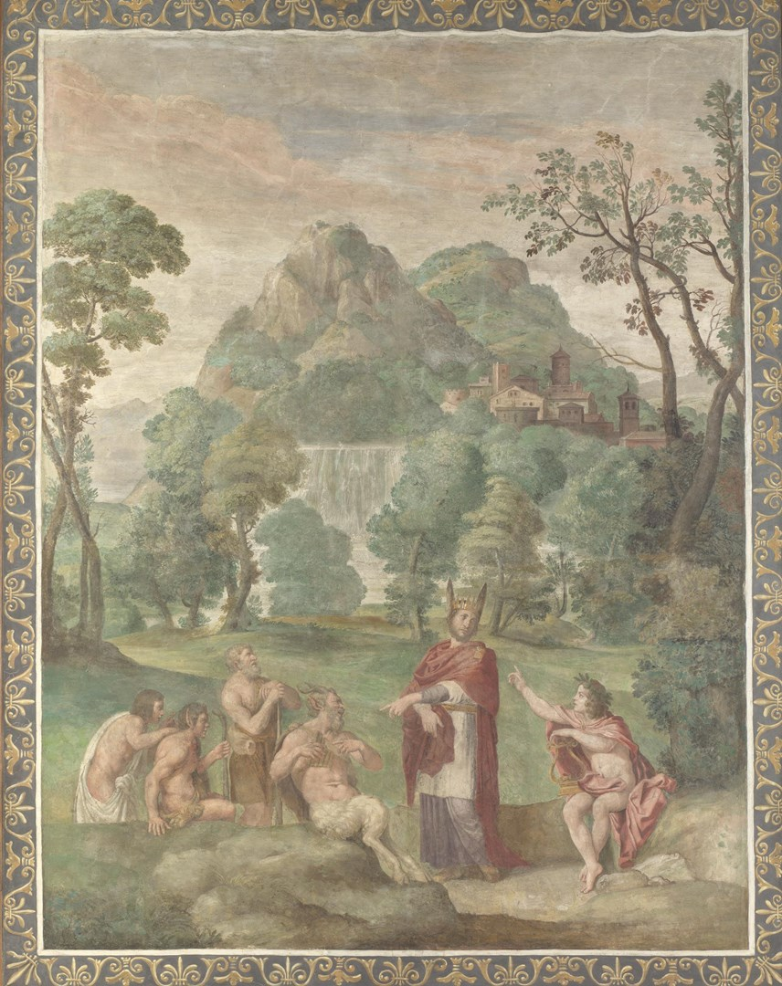 The Judgement of Midas by Domenichino and assistants