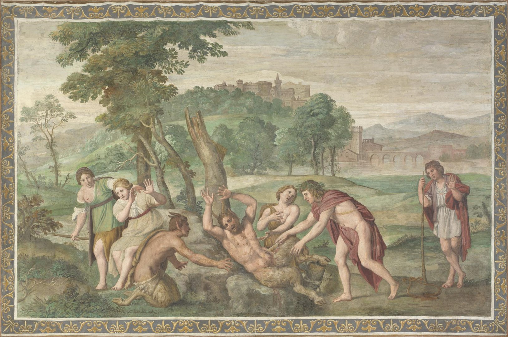 The Flaying of Marsyas by Domenichino and assistants