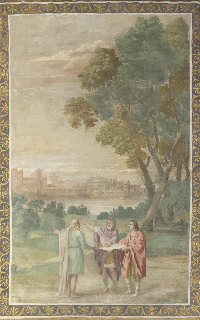 Apollo and Neptune advising Laomedon by Domenichino and assistants