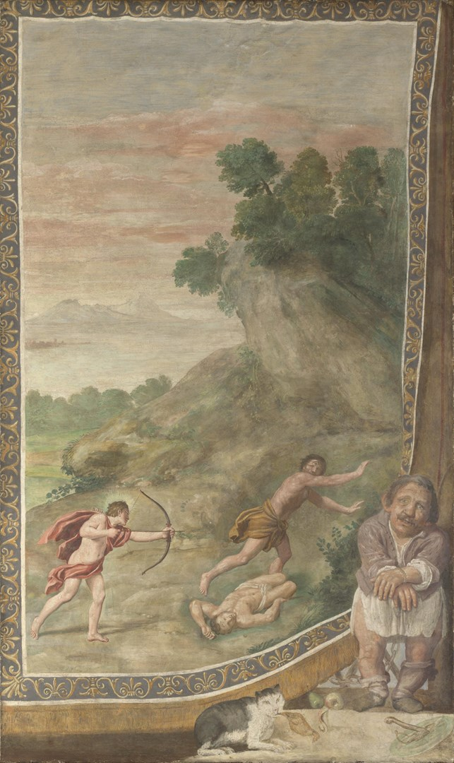 Apollo killing the Cyclops by Domenichino and assistants