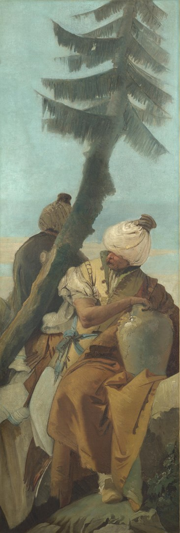 Two Orientals seated under a Tree by Giovanni Battista Tiepolo