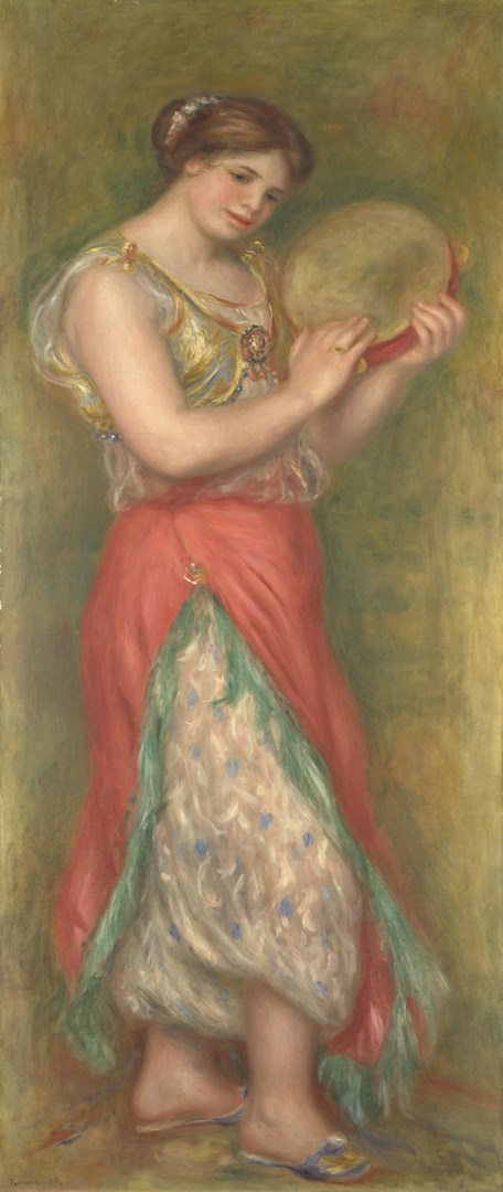 Dancing Girl with Tambourine by Pierre-Auguste Renoir