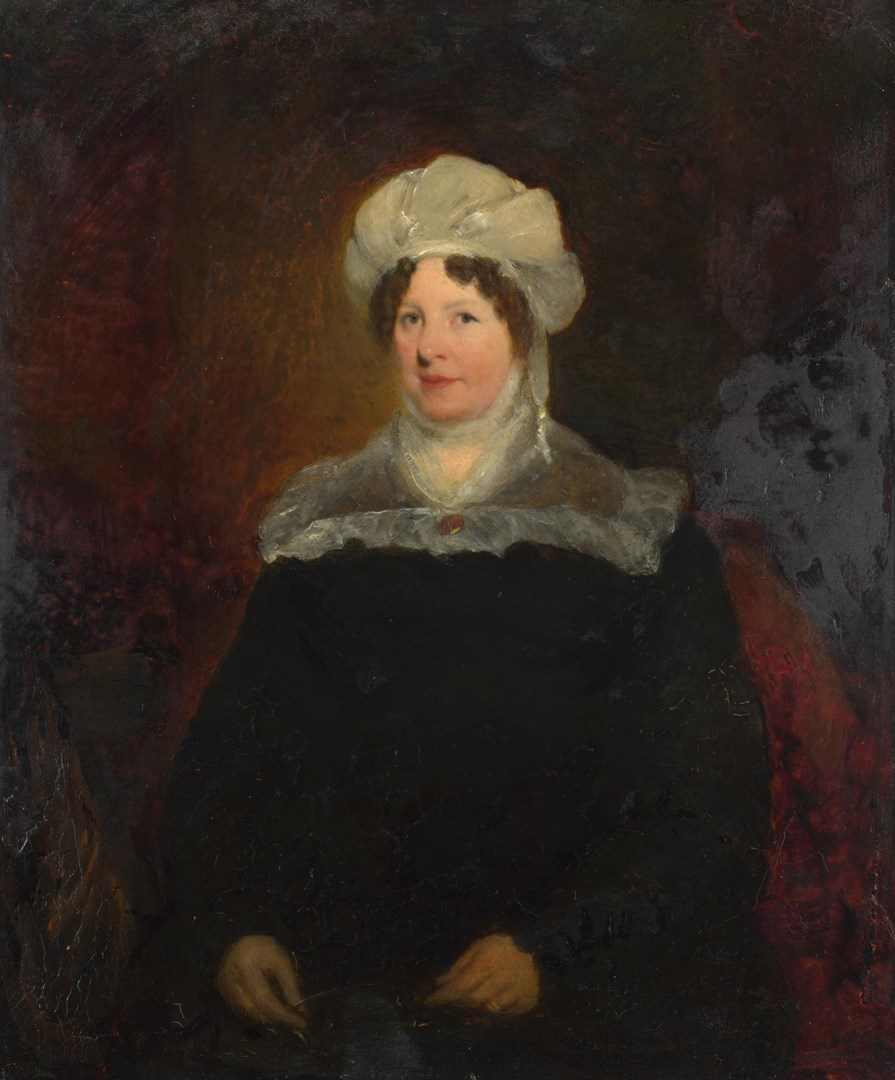 Portrait of a Woman aged about 45 by British (possibly Sir William Boxall)