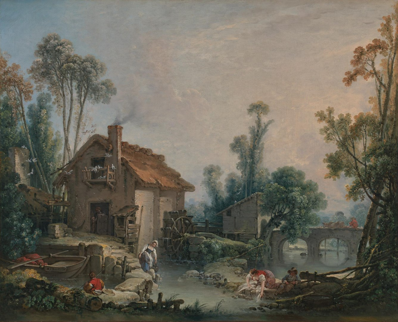 Landscape with a Watermill by François Boucher