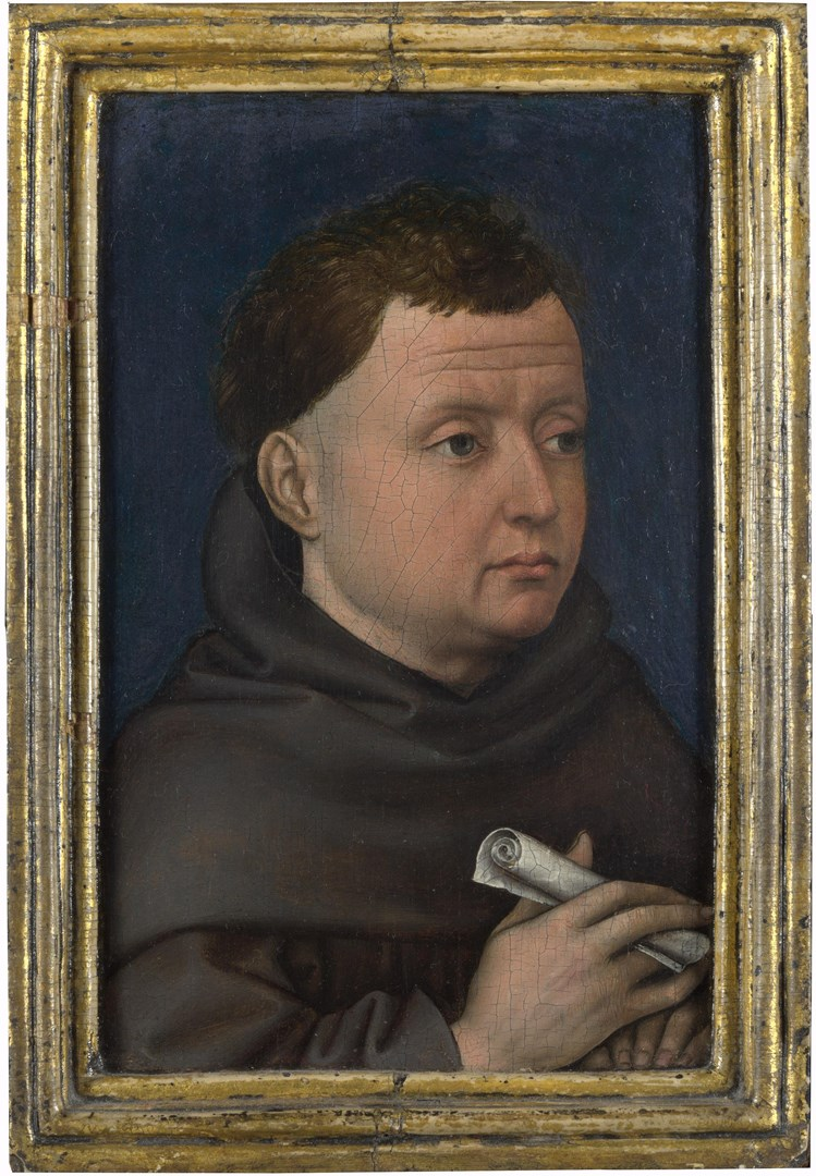 Portrait of a Franciscan (?) by Workshop of Robert Campin