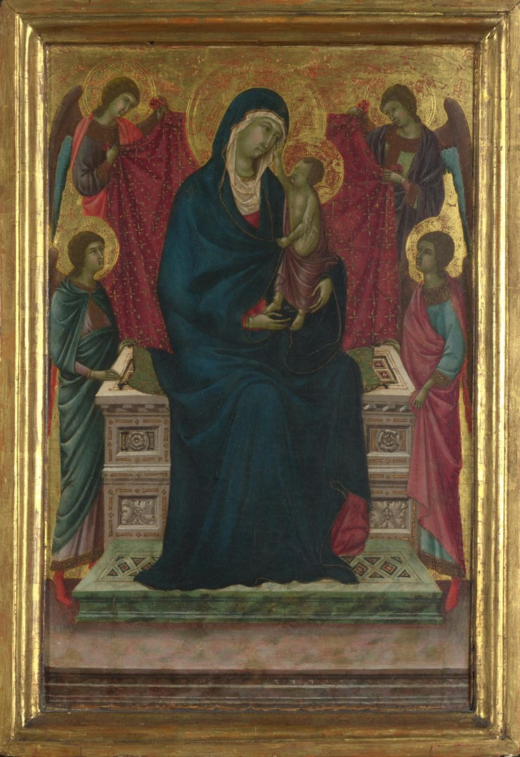The Virgin and Child with Four Angels by Attributed to Ugolino di Nerio