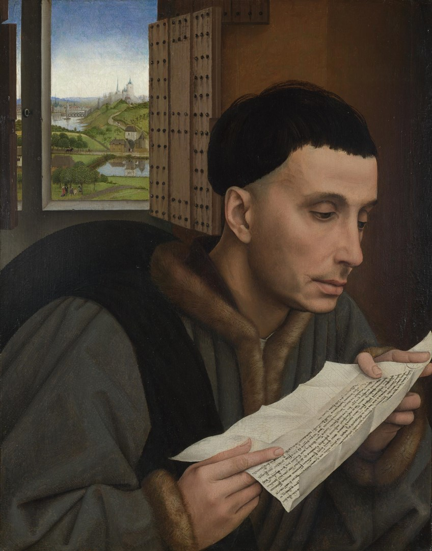A Man Reading (Saint Ivo?) by Workshop of Rogier van der Weyden