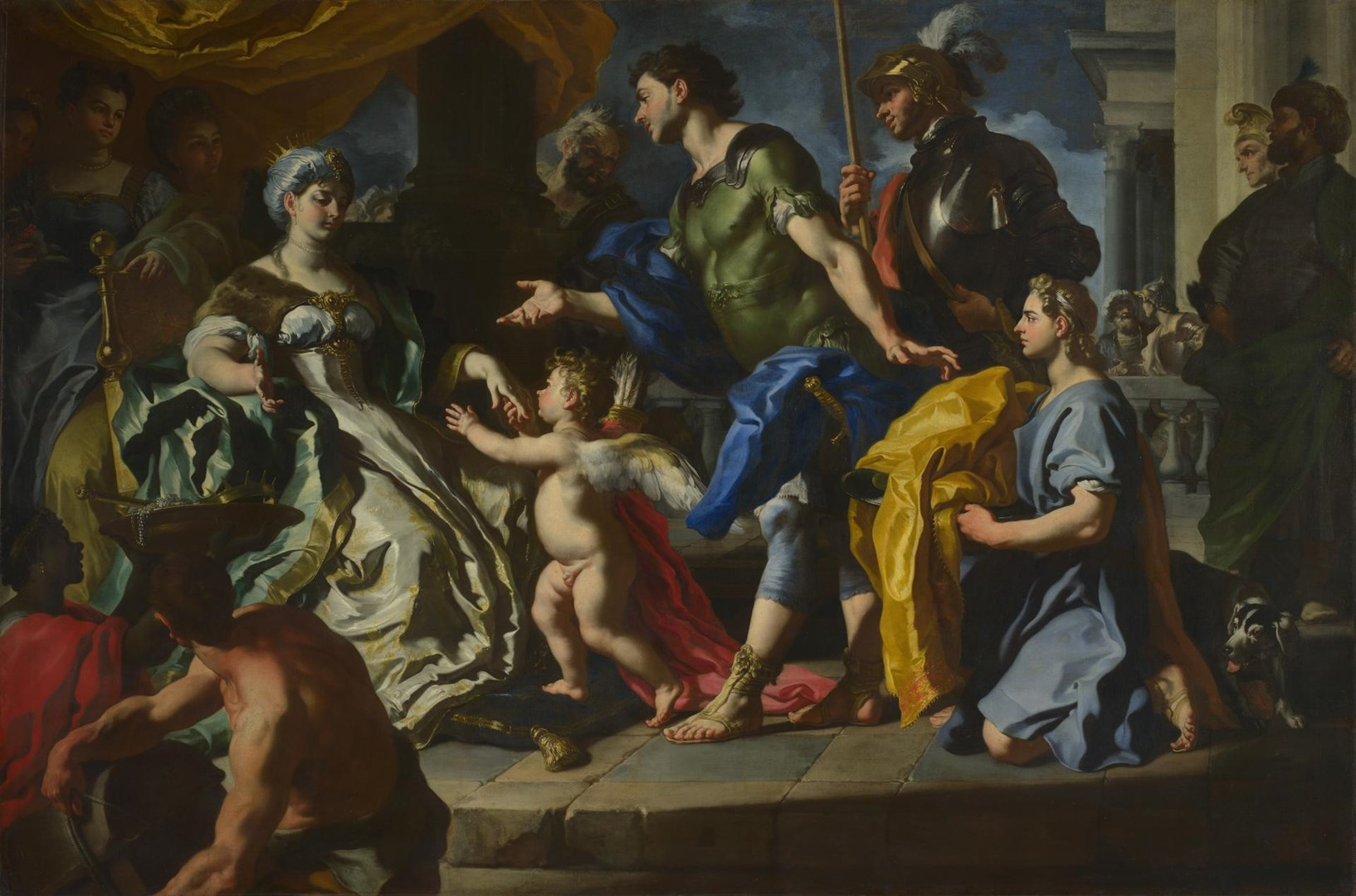 Dido receiving Aeneas and Cupid disguised as Ascanius by Francesco Solimena
