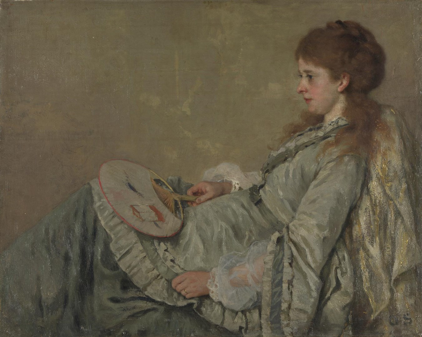 Portrait of the Artist's Wife by Otto Franz Scholderer