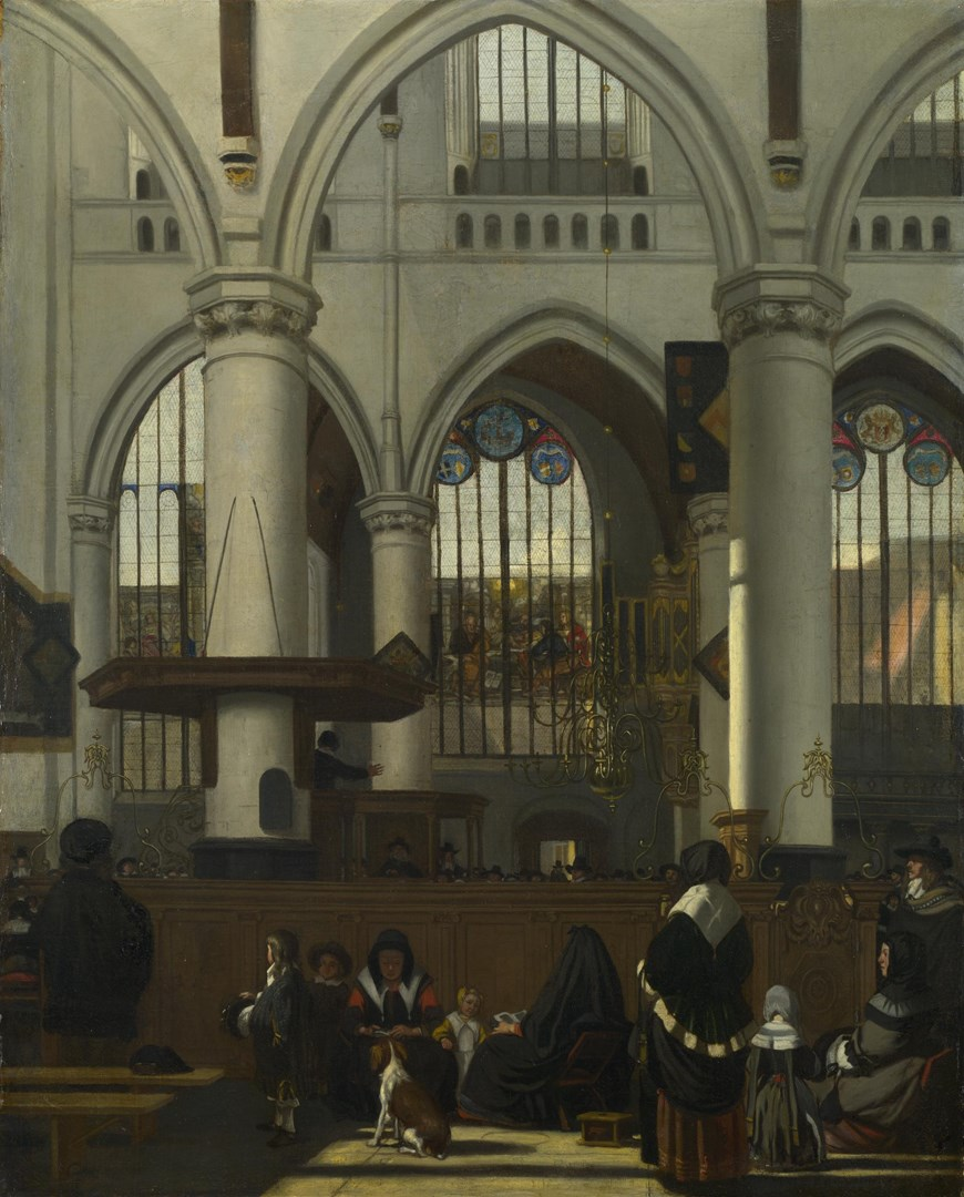 The Interior of the Oude Kerk, Amsterdam by Emanuel de Witte