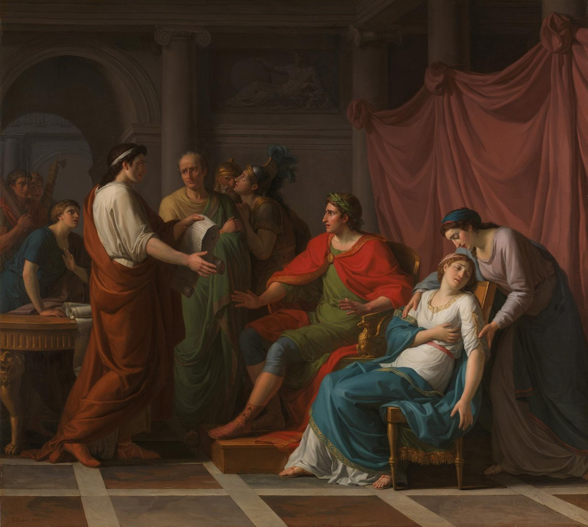 Virgil reading the Aeneid to Augustus and Octavia by Jean-Joseph Taillasson
