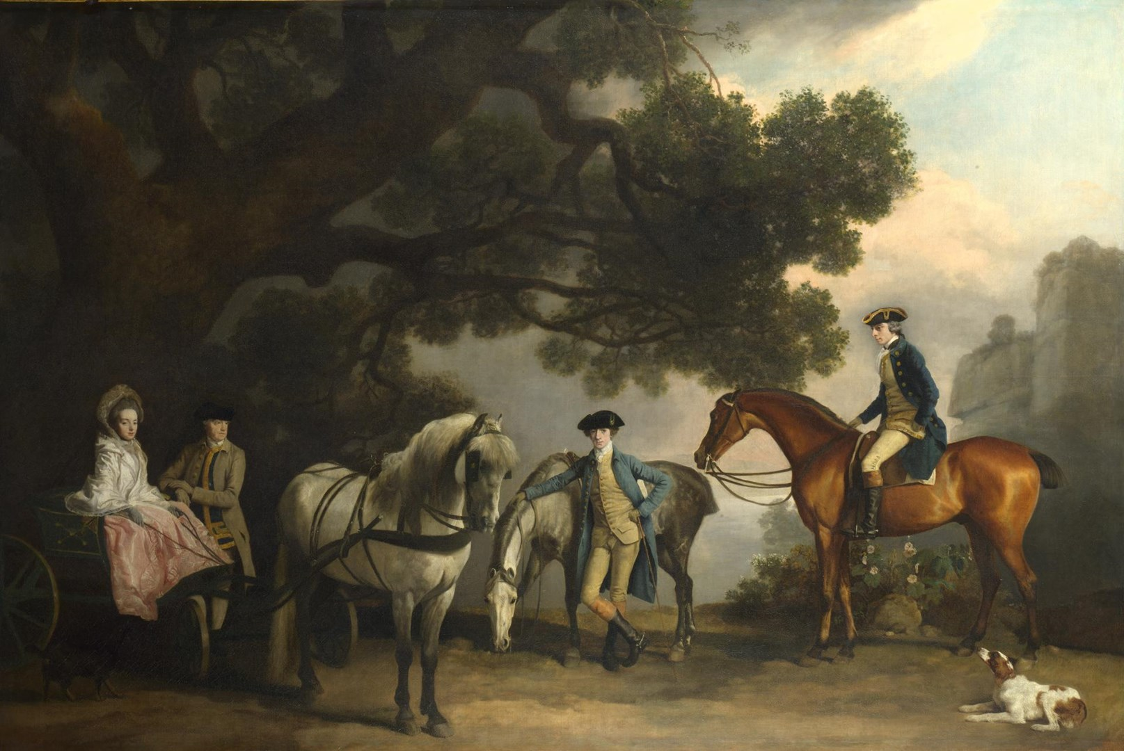 The Milbanke and Melbourne Families by George Stubbs