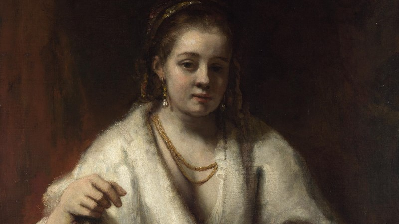 Rembrandt, 'Portrait of Hendrickje Stoffels', probably 1654-6