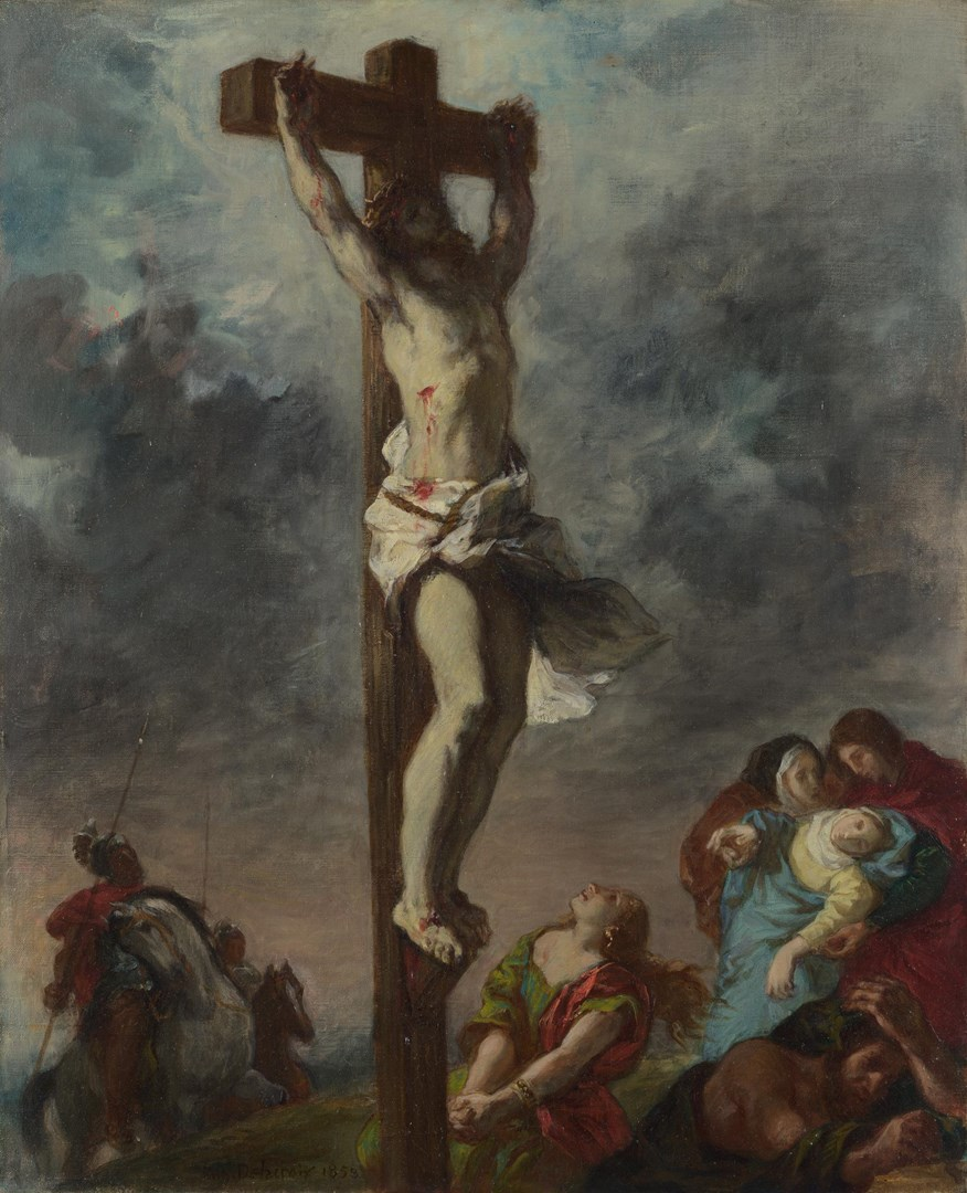 Christ on the Cross by Eugène Delacroix