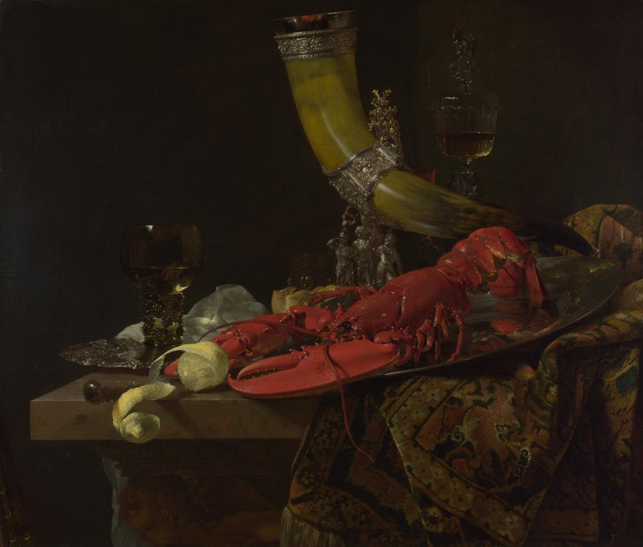 Still Life with Drinking-Horn by Willem Kalf