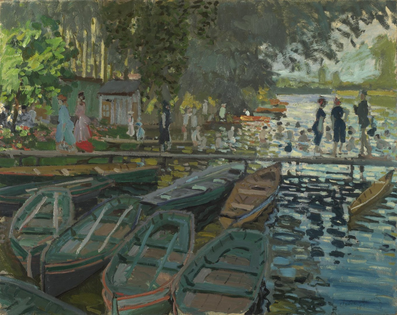 Bathers at La Grenouillère by Claude Monet