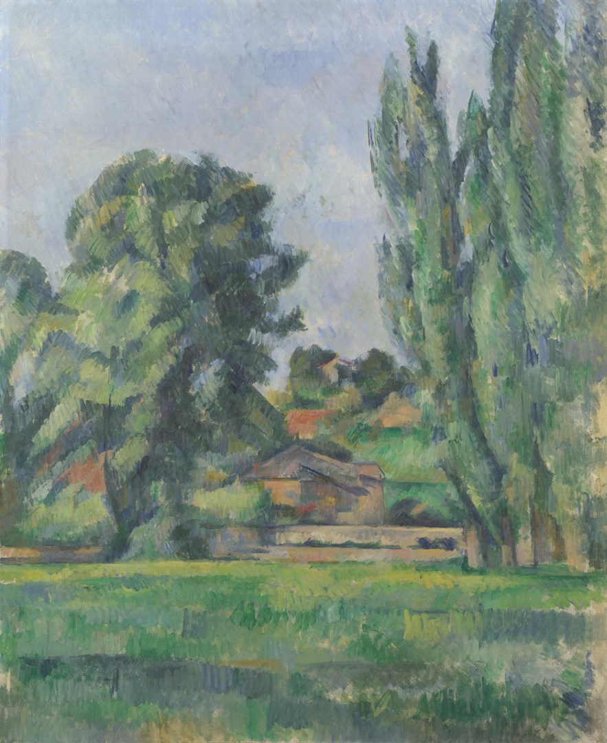 Paul Cezanne Landscape With Poplars Ng6457 National Gallery London