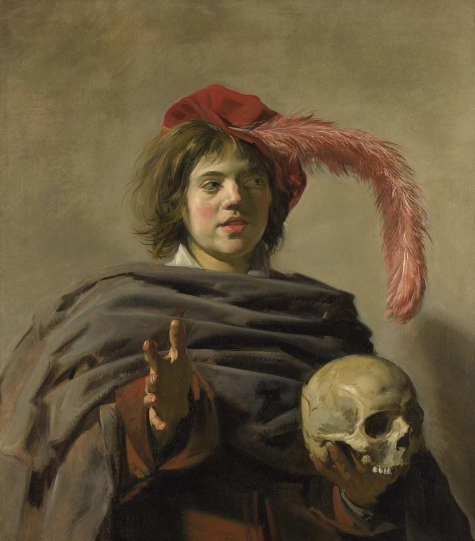 Young Man holding a Skull (Vanitas) by Frans Hals