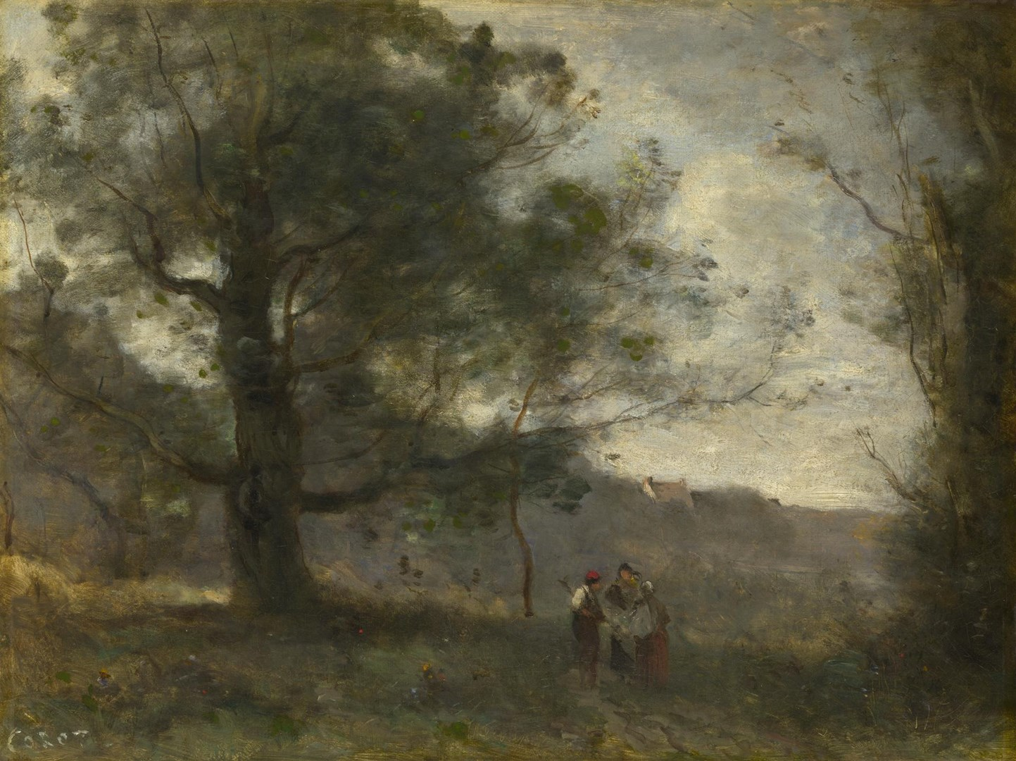 The Oak in the Valley by Jean-Baptiste-Camille Corot