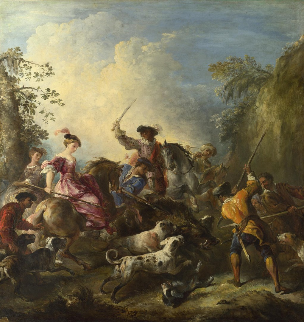 The Boar Hunt by Joseph Parrocel