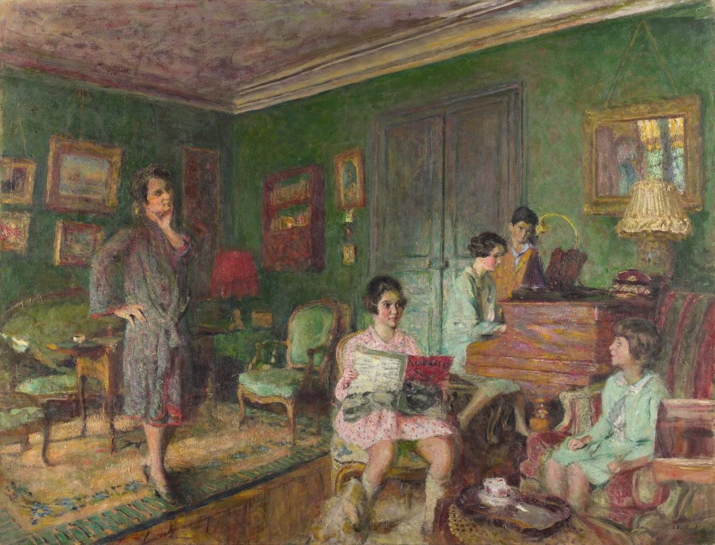 Madame André Wormser and her Children by Edouard Vuillard