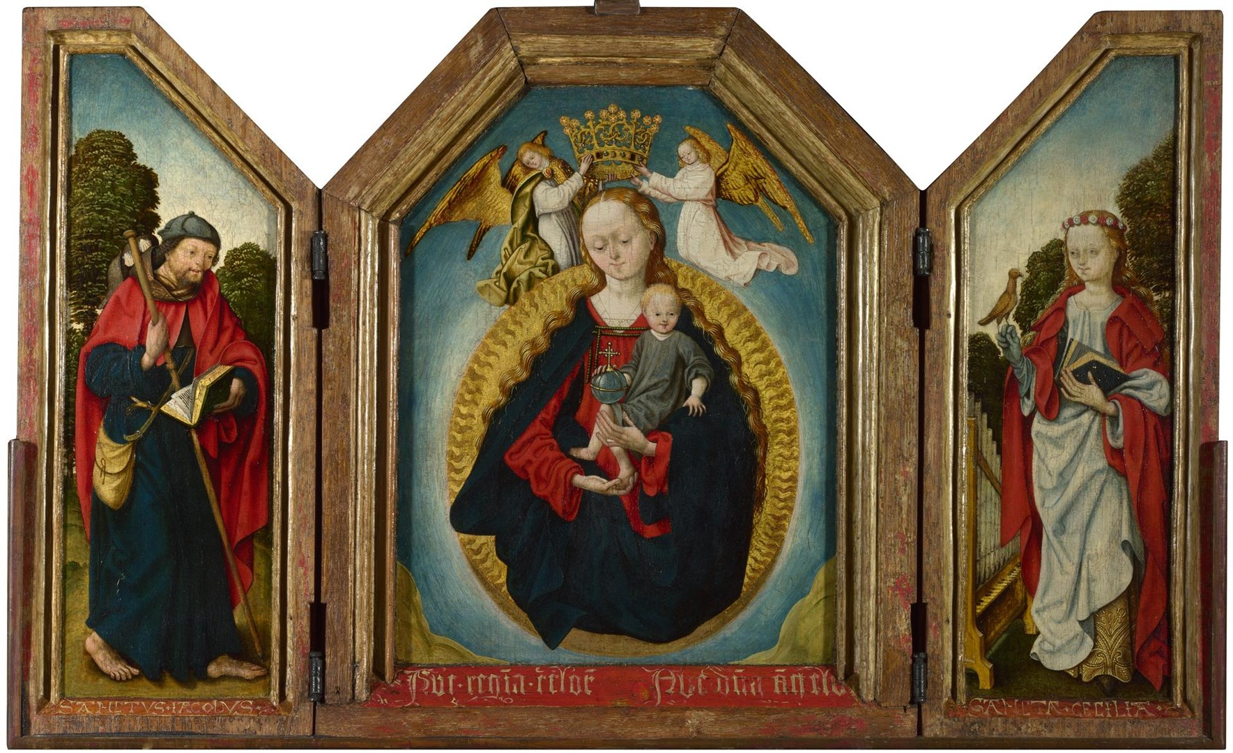 The Virgin and Child in Glory with Saints by Workshop of the Master of the Saint Bartholomew Altarpiece