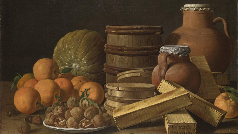 Luis Meléndez, 'Still Life with Oranges and Walnuts', 1772