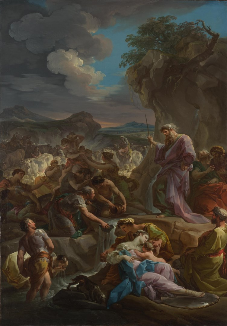 Moses striking the Rock by Corrado Giaquinto