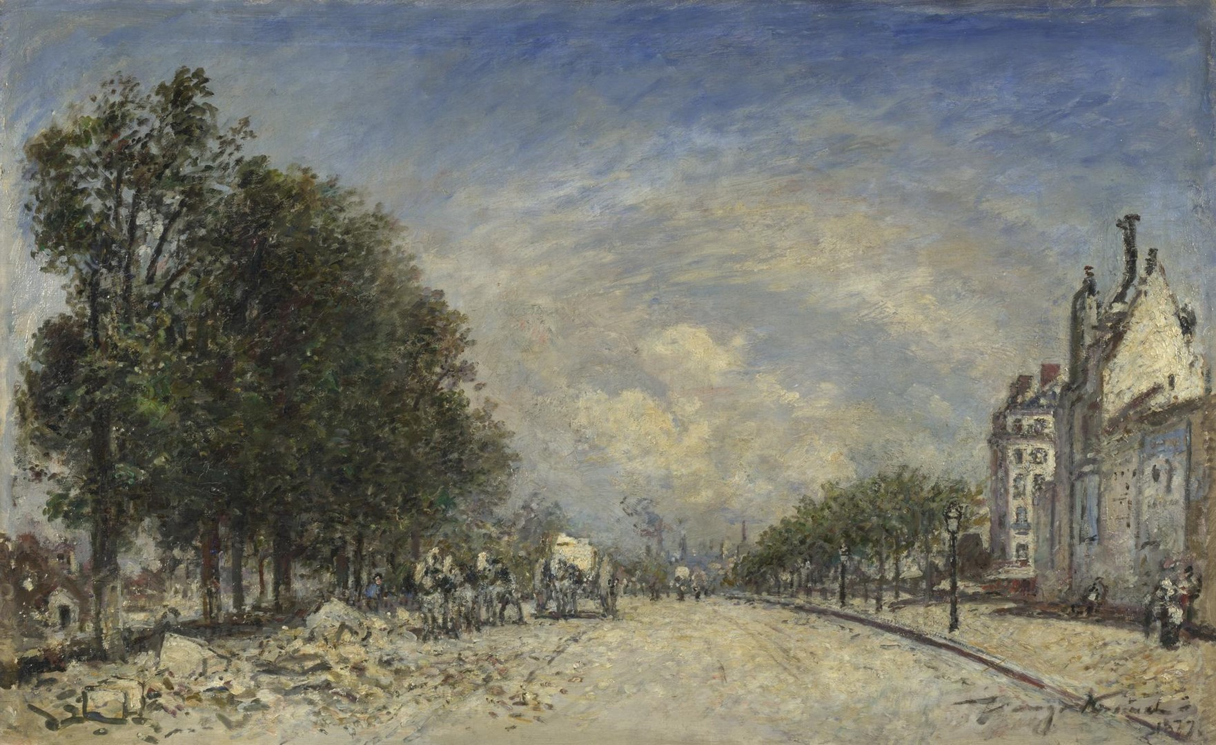 The Boulevard de Port-Royal, Paris by Johan Barthold Jongkind