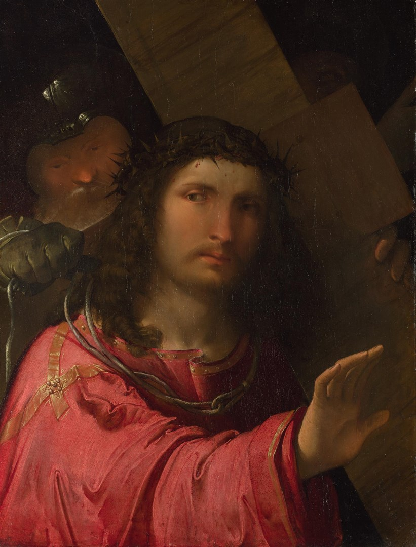 Christ carrying the Cross by Altobello Melone
