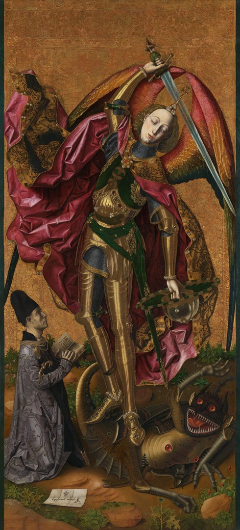 Saint Michael Triumphs over the Devil by Bartolomé Bermejo