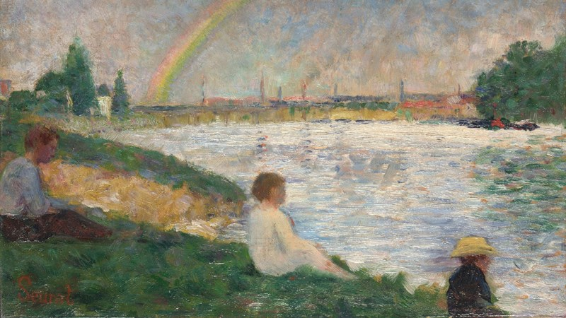 Georges Seurat, 'The Rainbow: Study for 'Bathers at Asnières'', 1883