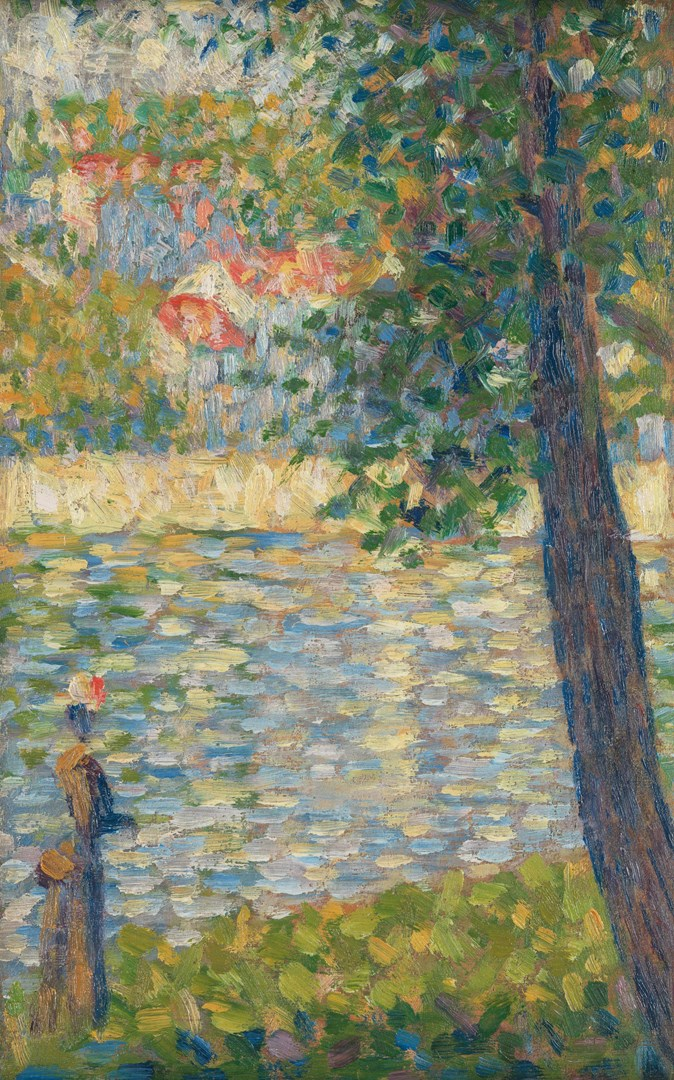 The Morning Walk by Georges Seurat