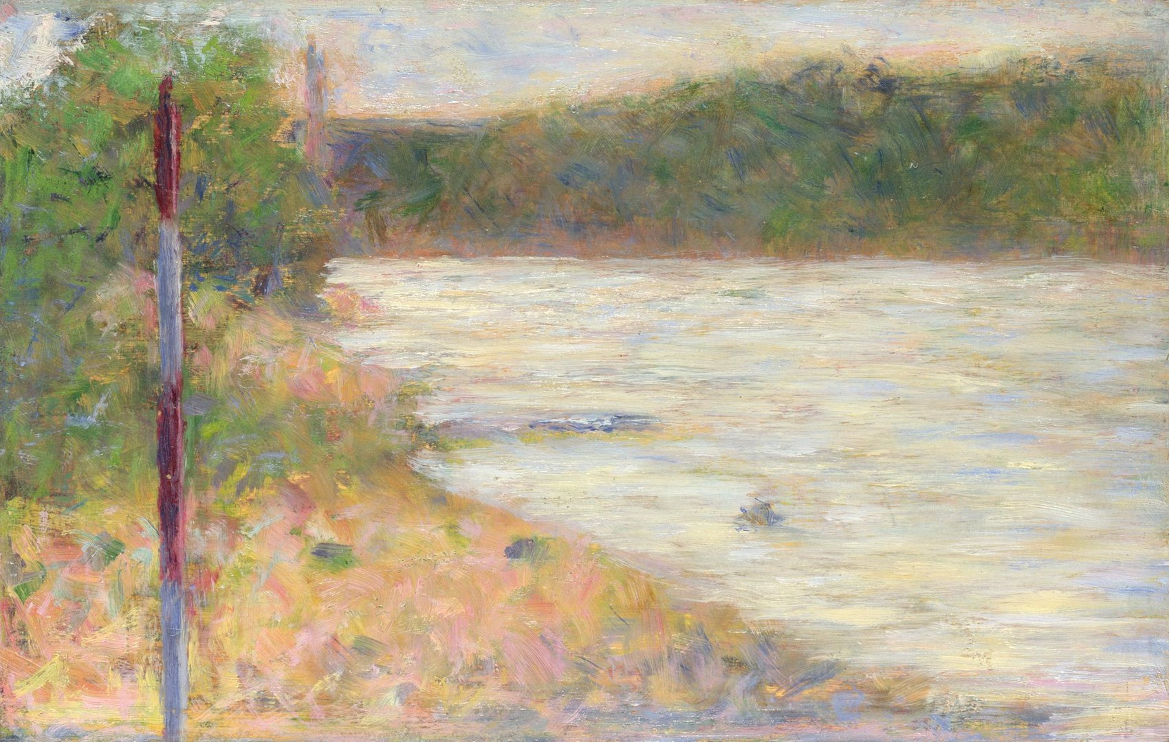 A River Bank (The Seine at Asnières) by Georges Seurat