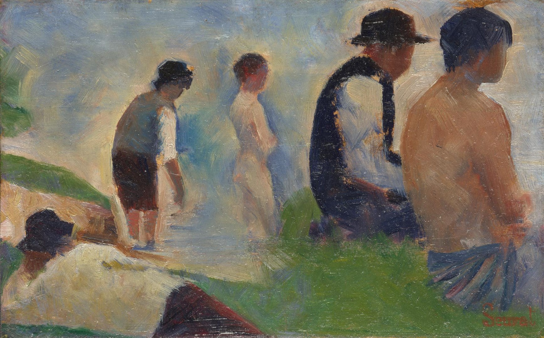 Study for 'Bathers at Asnières' by Georges Seurat