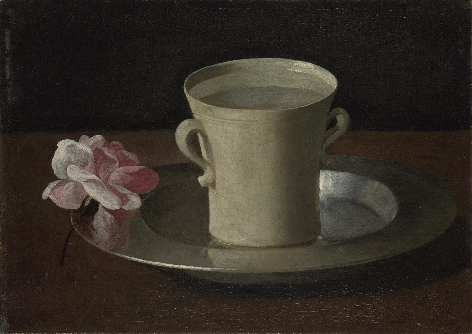 A Cup of Water and a Rose by Francisco de Zurbarán