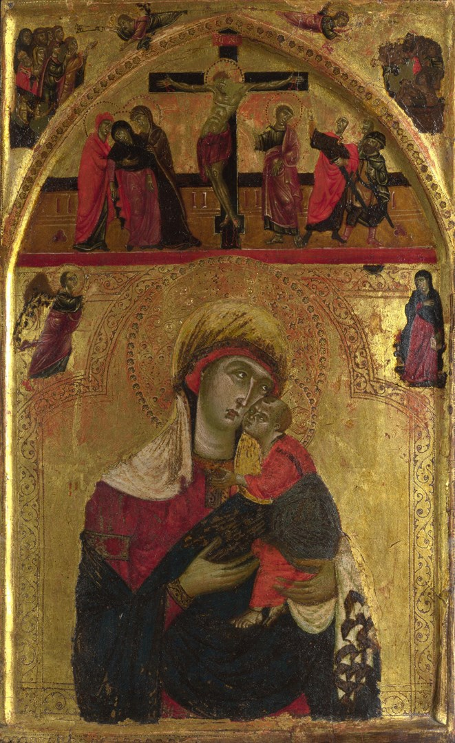 The Virgin and Child by Master of the Clarisse (possibly Rinaldo da Siena)