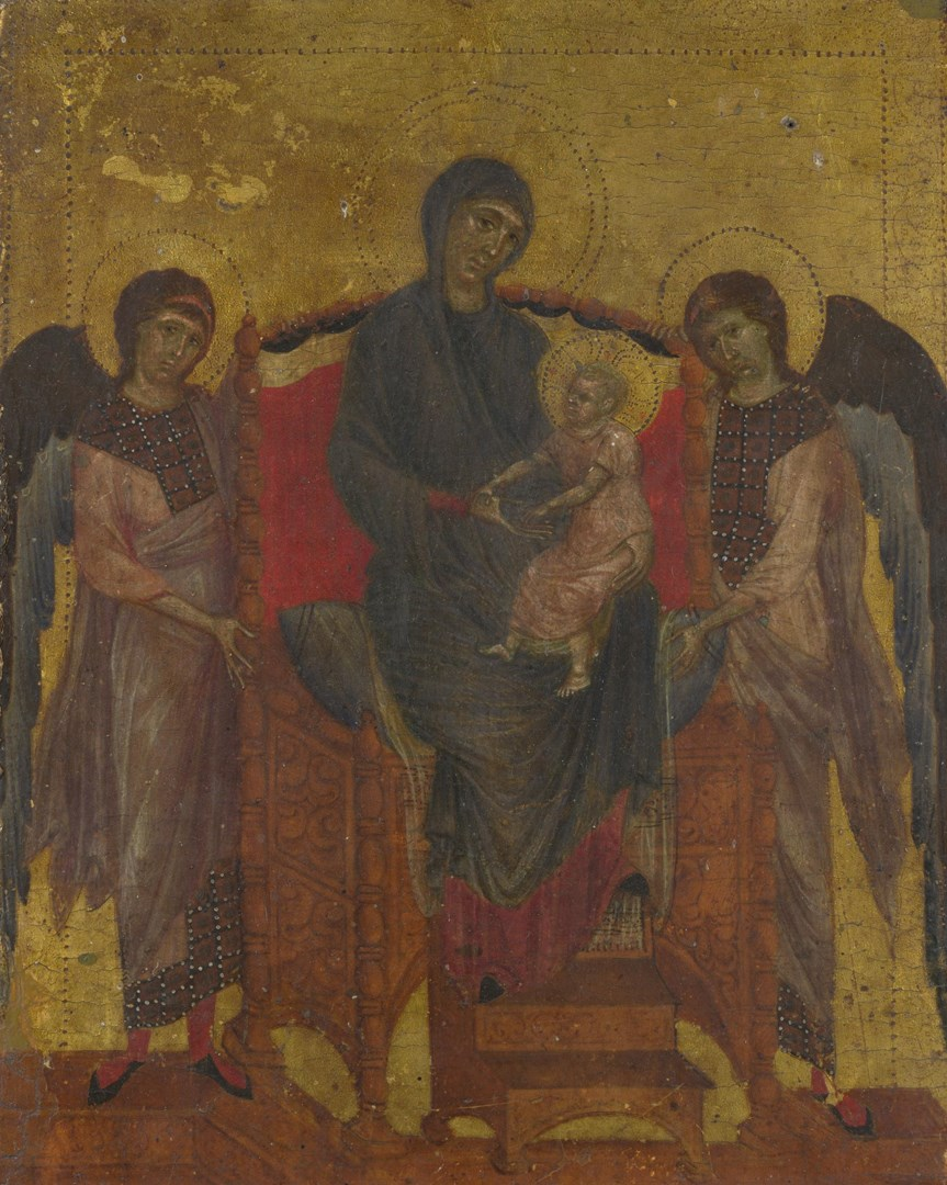 The Virgin and Child with Two Angels by Cimabue