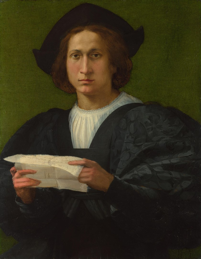 Portrait of a Young Man holding a Letter by Rosso Fiorentino