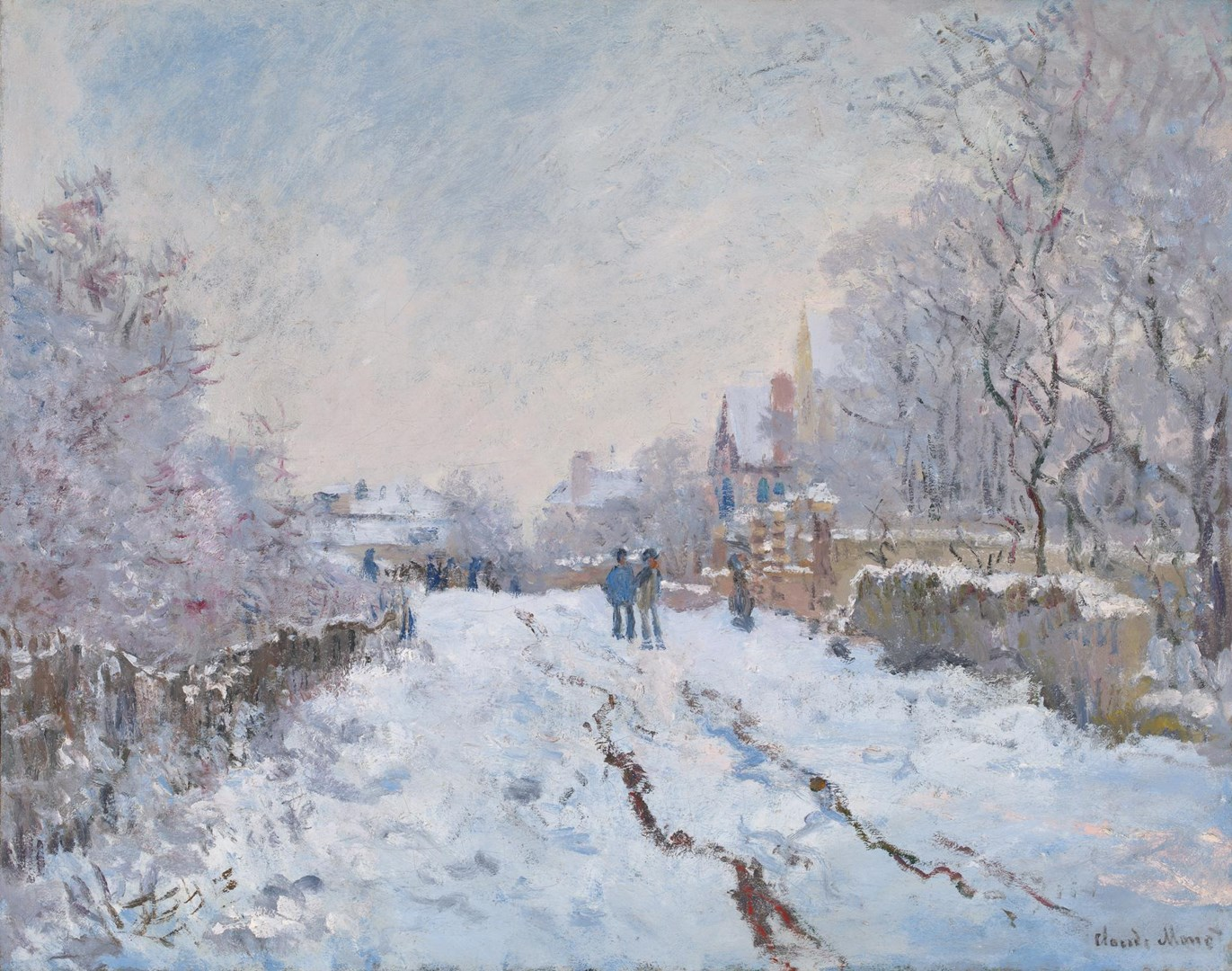 Snow Scene at Argenteuil by Claude Monet