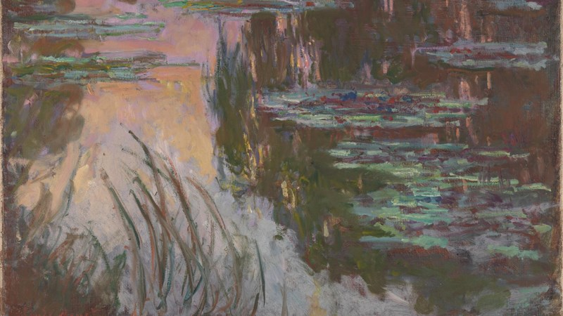 Claude Monet, 'Water-Lilies, Setting Sun', about 1907