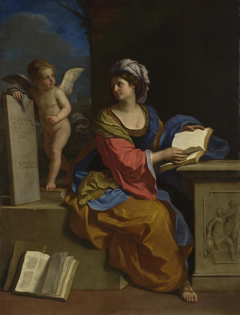 The Cumaean Sibyl with a Putto by Guercino